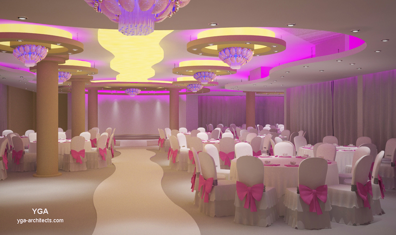 Interior design by yga architects for Wedding salon